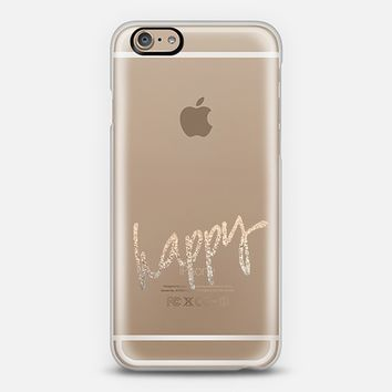HAPPY GOLD by Monika Strigel iPhone 6 Transparent Case iPhone 6 case by Monika Strigel | Casetify