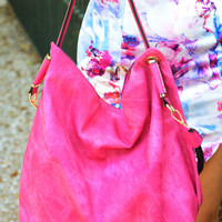 Can't Keep Up Purse: Magenta