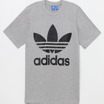 adidas Heather Grey Boxy T-Shirt at PacSun.com