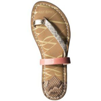 Women's Sam & Libby Karina 3 Strap Sandal with Toe Loop - Natural Snake/Coral