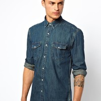 Selected Washed Denim Shirt