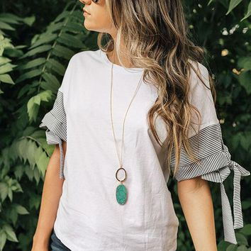 Hampton Bay Shift Top In White