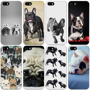 French Bulldog Black Plastic Case Cover Shell for iPhone Apple 4 4s 5 5s SE 5c 6 6s 7 Plus