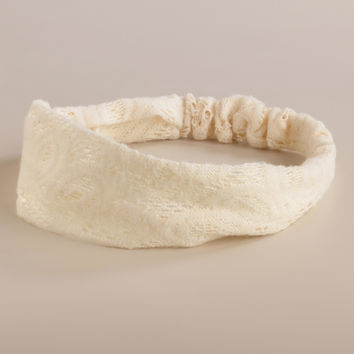 Ivory Crochet Headband - World Market