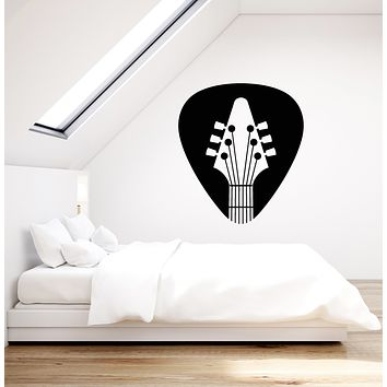 Vinyl Wall Decal Acoustic Guitar Mediator Guitarist Musician Stickers (3363ig)