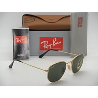 NEW Ray Ban Sunglass square RB3548N 001 51mm Hexagonal Round square Green Lens