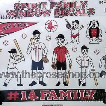 Boston Red Sox Family Spirit LARGE Window Decal Sheet MLB Baseball