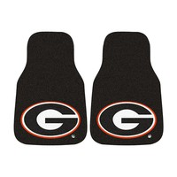 Fanmats 2-pk. Georgia Bulldogs Car Floor Mats (Black)