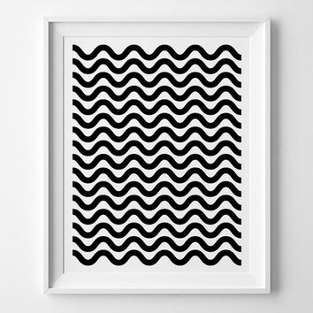 Zigzag Scandinavian pattern poster print, print art, home wall decor, mottos, minimal, pattern design, giclee art, inspirational, decoration