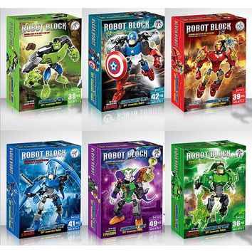 2016 New The Avengers Marvel DC Super Heroes Series Action figures Building Block Toys New Kids Gift