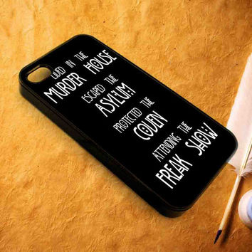 American horror story asylum iPhone Case For - iPhone 4 Case/iPhone 5 Case/iPhone 5C Case/iPhone 6 Case/ipod touch 5 case