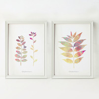 Printable art set, Home decor art prints, Pastel decor 5x7 prints, Digital wall art Set of 2 prints, Nature art wall prints, PRINTABLE decor