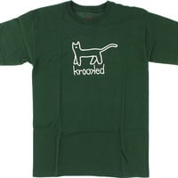 Krooked Kat Tee XLarge forest/Green