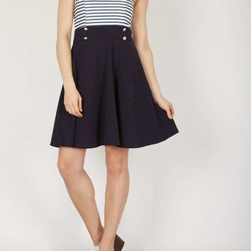 *Izabel London Navy Sailor Skater Dress | Dorothyperkins