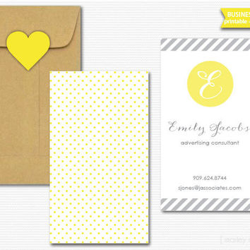 Printable Business Cards Digital PDF Calling Cards Mommy Cards Choose Your Colors DIY Stationery