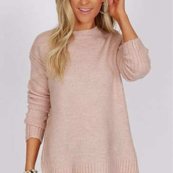 Vertical Detailed Sweater Blush