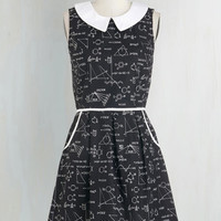 Scholastic Mid-length Sleeveless A-line All Eyes on Unique Dress in Science