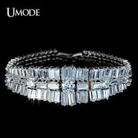 Royal Crystal tennis bracelet Swiss zirconia bracelet by shopUMODE