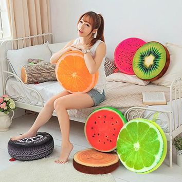 New Creative Cute 3D Print Summer Fruit PP Cotton Office Chair Back Cushion Sofa Throw Pillow Home Decor