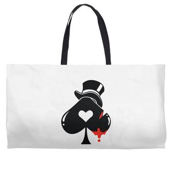 poker hat ace of spades Weekender Totes