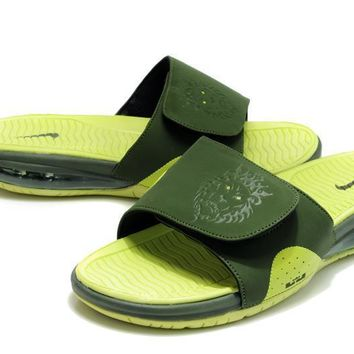 Nike Air LeBron Slide Green/Grass Green Casual Sandals Slipper Shoes Size US 7-11-1