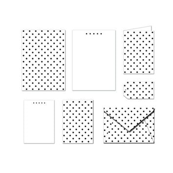 Printable Stationery Set - Polka Dots - Notes / Card / Gift Tag / Envelope