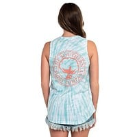 Salt Washed Tie Dye Tank in Ice Green by The Southern Shirt Co.