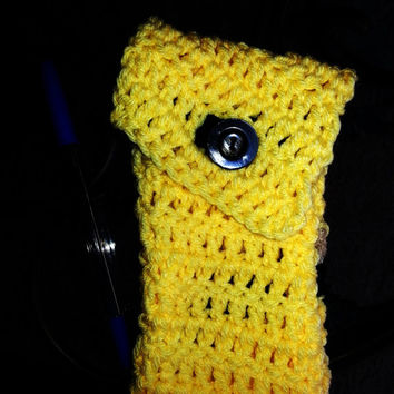 iPhone Wallet - Cell Phone Wallet, Crochet cell phone holder, Phone cozy, Phone case