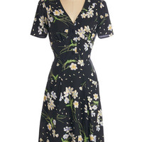 ModCloth 40s Long Short Sleeves A-line Put to Good Muse Dress