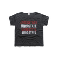 Women's Ohio State Stack Boxy Tee
