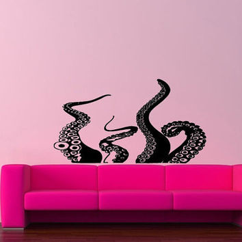 Wall Decor Vinyl Sticker Room Decal Art Tattoo Sea Ocean Monster Octopus 606