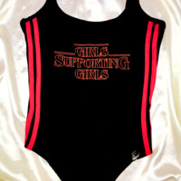 SWEET LORD O'MIGHTY! GIRLS SUPPORTING GIRLS BODYSUIT