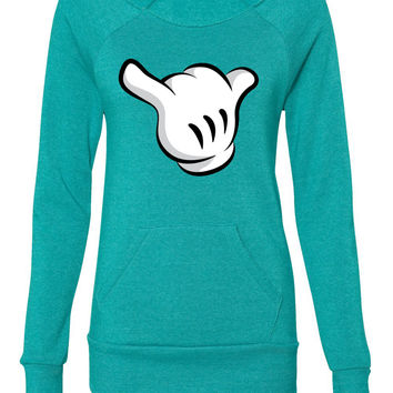 mickey hand ladies sweatshirt