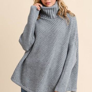 Chunky Knit Sweater in Grey