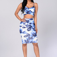 Flowered With Love Top - Blue