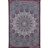 Maroon Small Indian Dorm Decor Star Hippie Tapestry Wall Hanging Home Decor Art