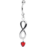 Handcrafted Eternal Love Infinity Dangle Belly Ring | Body Candy Body Jewelry