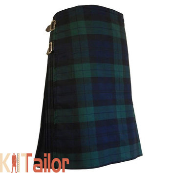 BLACK WATCH TRADITIONAL TARTAN KILT CUSTOM MADE