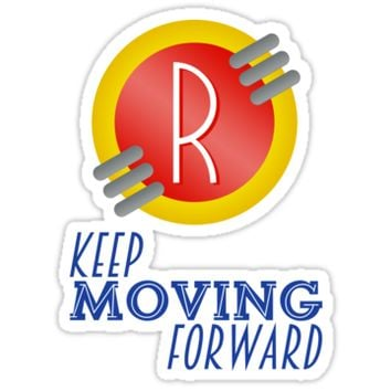 'Keep Moving Forward - Meet the Robinsons' Sticker by Nani & Ceci