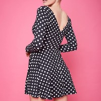 Surplice Polka Dot Dress