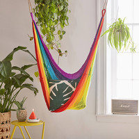 Yellow Leaf Rainbow Hammock Chair | Urban Outfitters