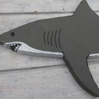 OOAK Reclaimed Wood Shark Wall Hanging. Wooden Shark. Beach Decor. Handmade. Made to Order