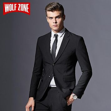 Men Suit Formal Business Blazer Men Groom Three Pieces Slim Fit Party Jacket Clothing Single Button Wedding Dress