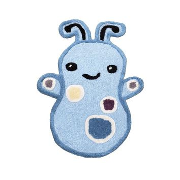 CoCaLo Baby Peek A Boo Monsters Rug (Blue)