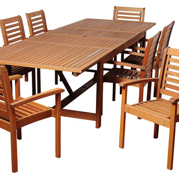 Trisha 9-Pc Extendable Dining Set, Outdoor Dining Tables