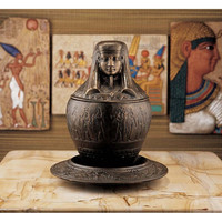 Imsety Egyptian Jar & Plate