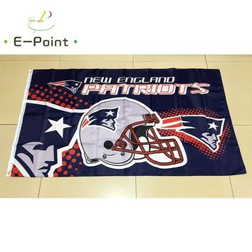 New England Patriots 3ft*5ft (90*150cm) Size Christmas Decorations for Home Flag Banner Gifts