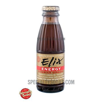 Elix Energy with Siberian Ginseng 100ml Glass Bottle