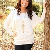 Live In Piko Top - Ivory