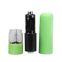 Plastic Electric Spice Salt Pepper Mill Miller Grinder Green Pepper Muller Kitchen Cooking Tools 4 AA Batteries
